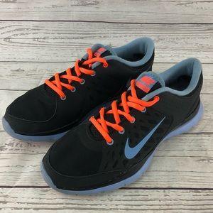 Womens Nike Flex Trainer 3 Size 9 Black/Blue/neon